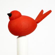 Fågel till hållare röd