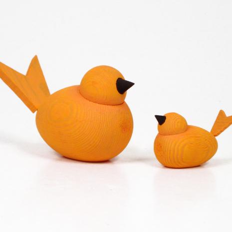 Fåglar orange