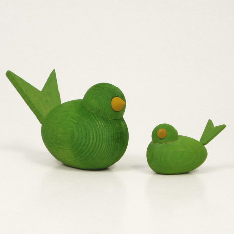 Fåglar ljusgröna