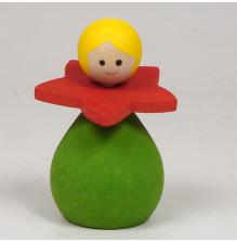 Blomsterflicka grön/röd