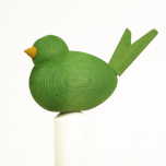 Fågel till hållare ljusgrön