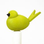 Fågel till hållare limegrön