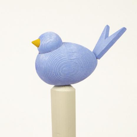 Fågel till hållare ljusblå
