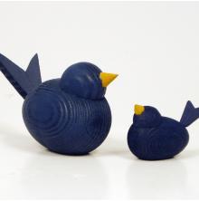 Fåglar mörkblå