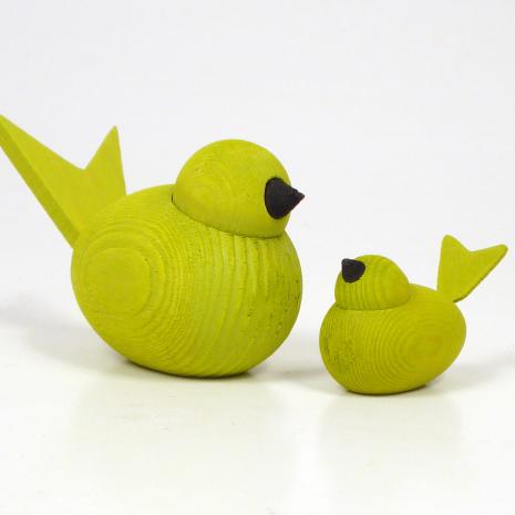 Fåglar limegröna