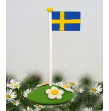 Flagga på blomsterkulle