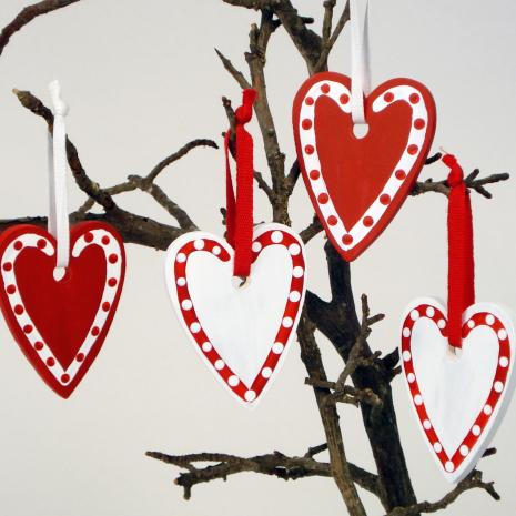 Hjärtan med prickar
