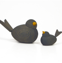 Fåglar grafitgrå