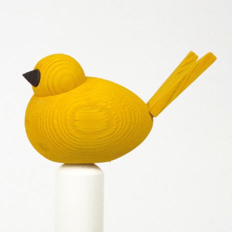 Fågel till hållare gul