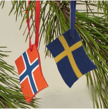 Flagga med band Svensk, Flagga med band Norsk