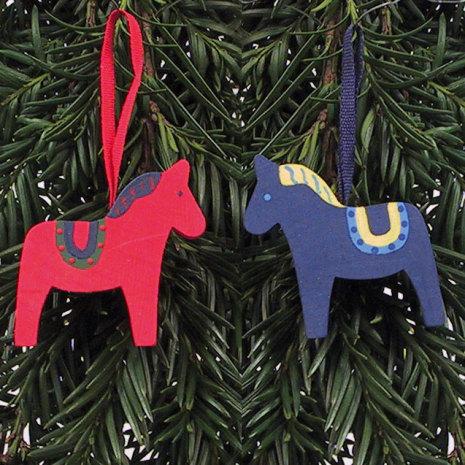 44708-1246, 44708-1306 Hästar med dekor
