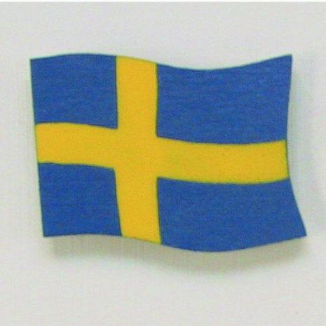 44622 Flagga med magnet svensk
