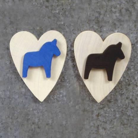 Hjärta magnet med häst